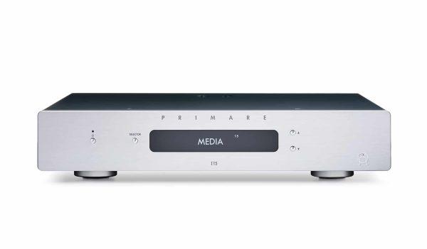 Primare I15 integrated amplifier front titanium