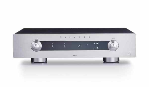 Primare PRE35 DAC modular preamplfier and digital to analog converter front titanium