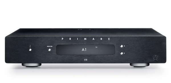 Primare I15 MM integrated amplifier with MM phono stage front black